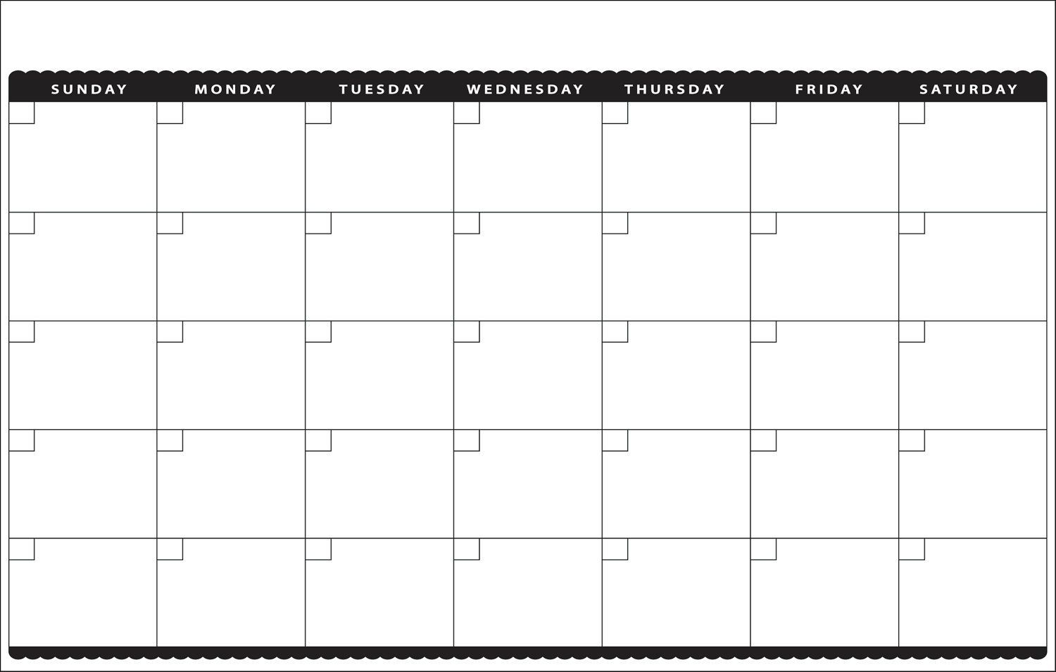 7 Best Images Of Cute Printable Blank Calendar Cute Blank