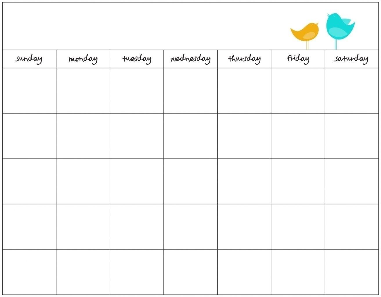 7 Day Blank Calendar - Cerno.mioduchowski