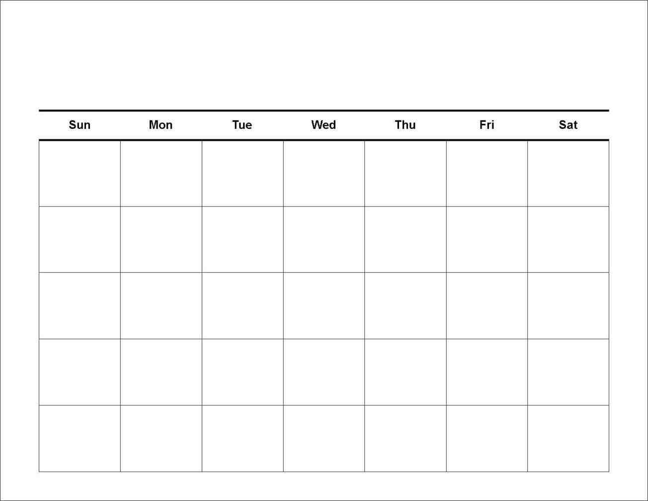 7 Day Calendar Template | Printable Calendar Template