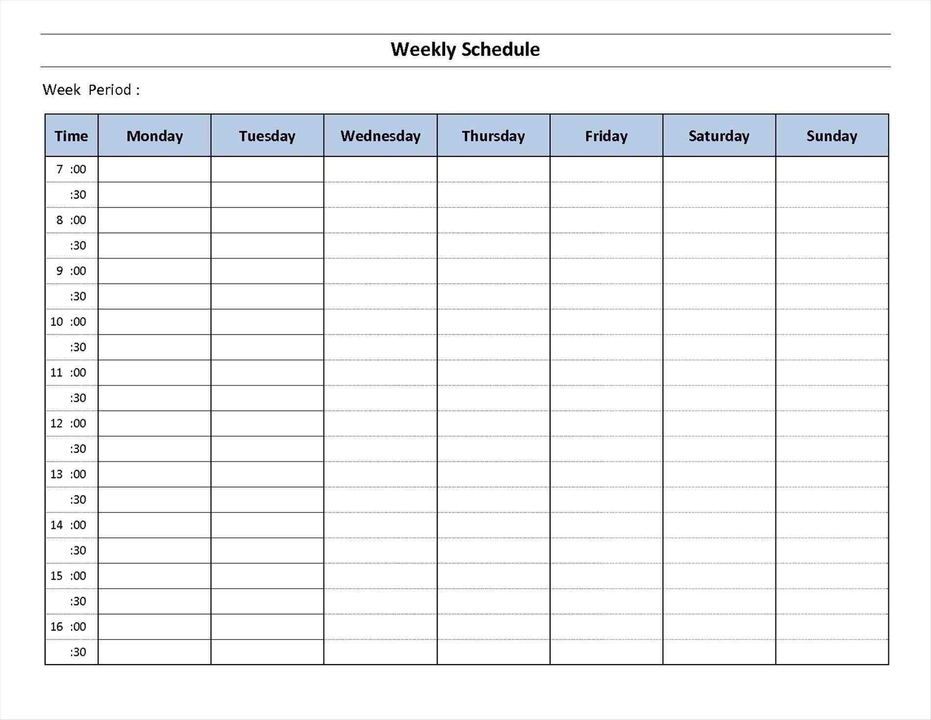 7 Day Week Calendar Printable | Template Calendar Printable