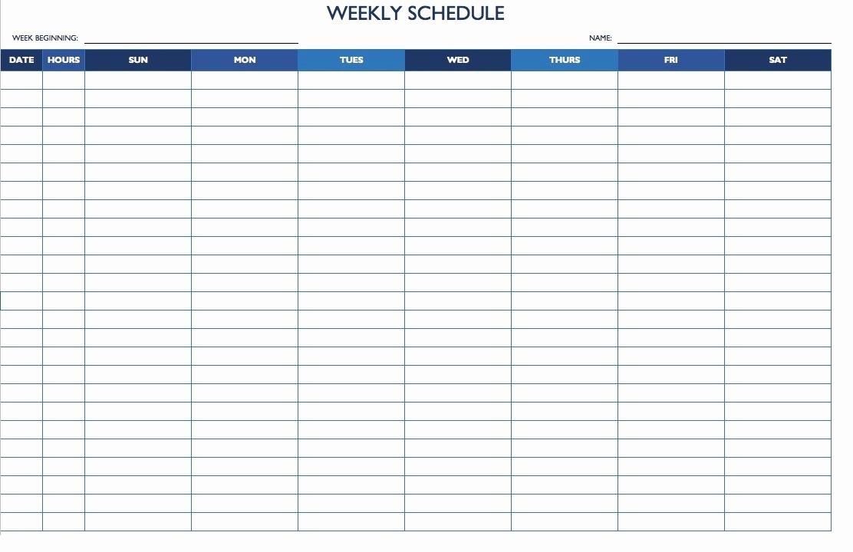7 Day Week Calendar Template Awesome 7 Day 24 Hour Calendar