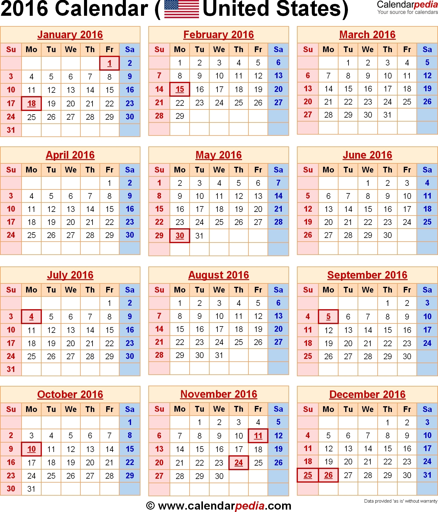 8.5 X 11 Year Calendar | Calendar Template 2019