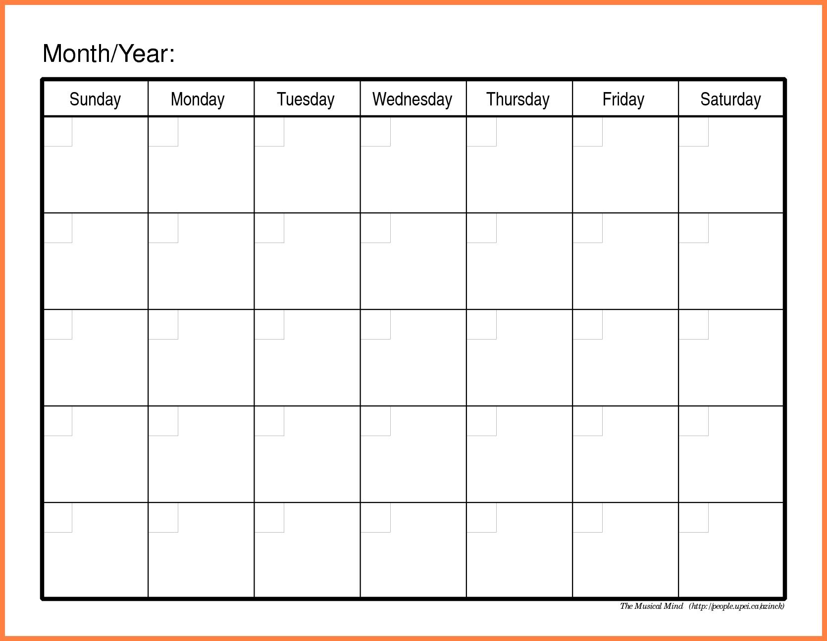 8+ Free Calendar Template | Andrew Gunsberg