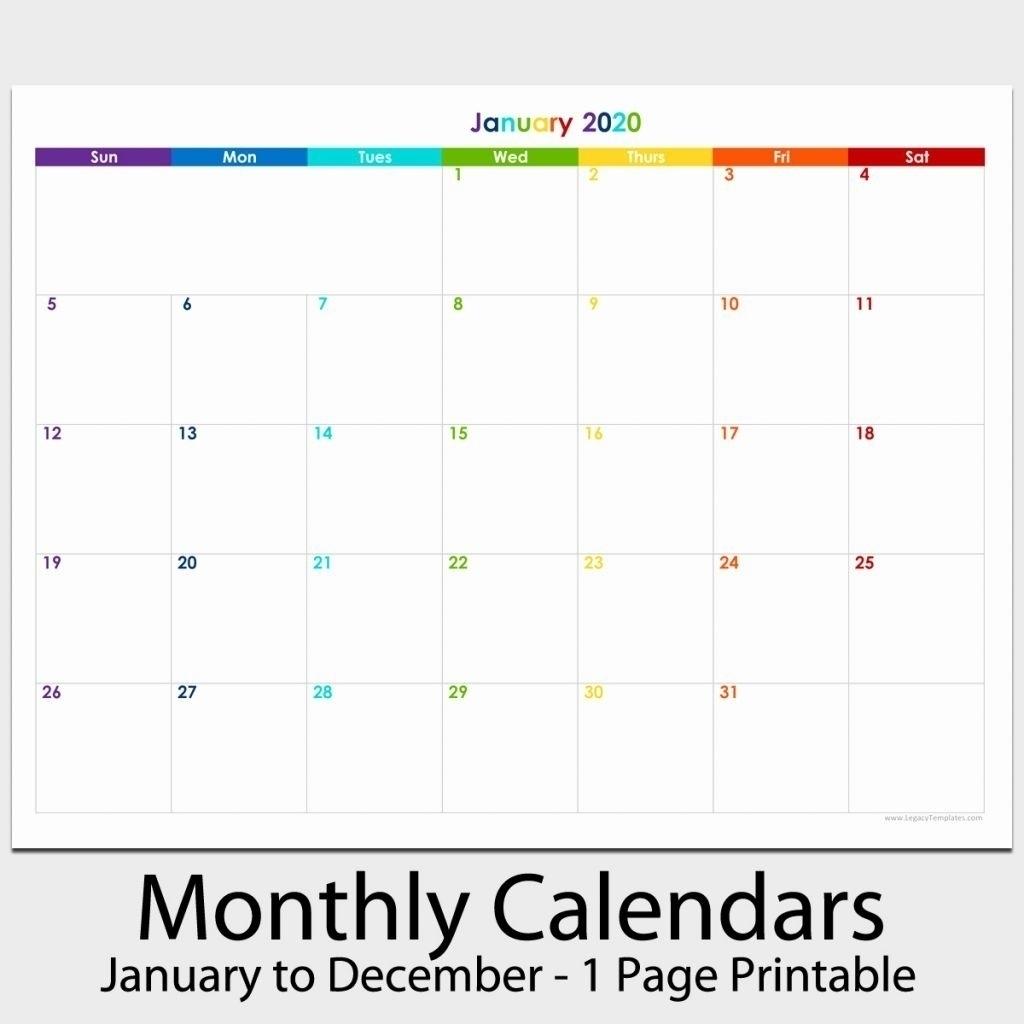 8 X 11 Blank Calendar Template | Calendar Template