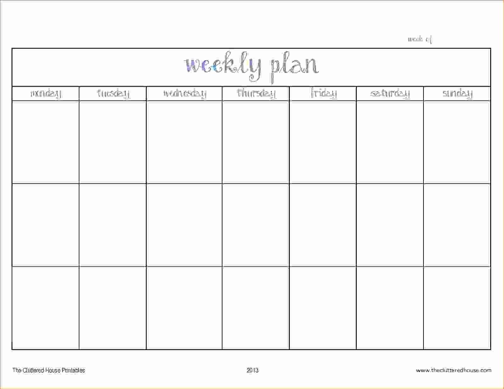 9 Week Calendar Template | Igotlockedout