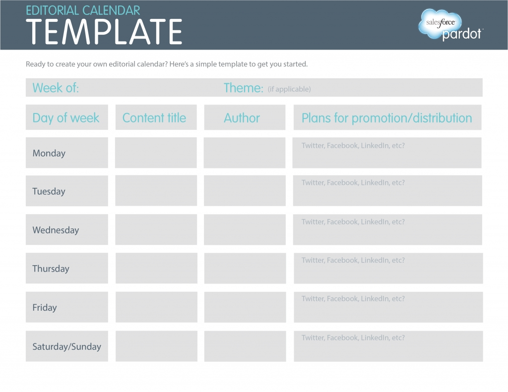 A Quick How-To: Easy Editorial Calendars [Template | Social