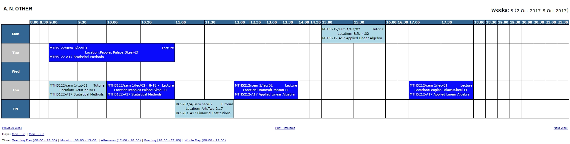 Accessing Your Personal Timetable | E-Learning Unit