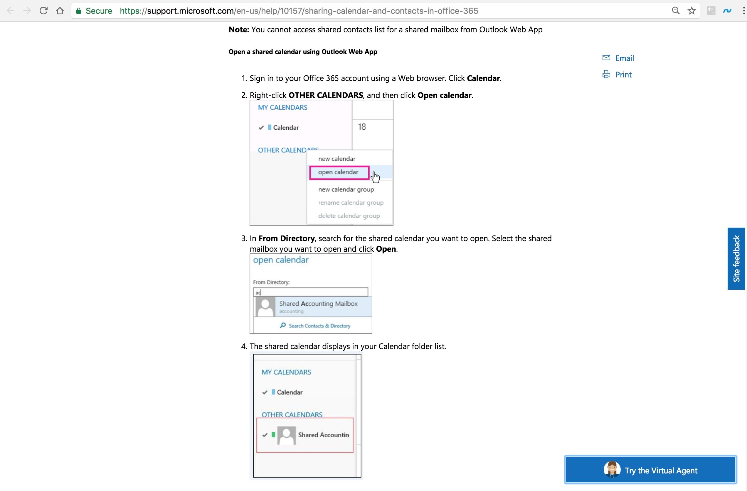 Add Calendar Of Colleague On Office 365 - Super User