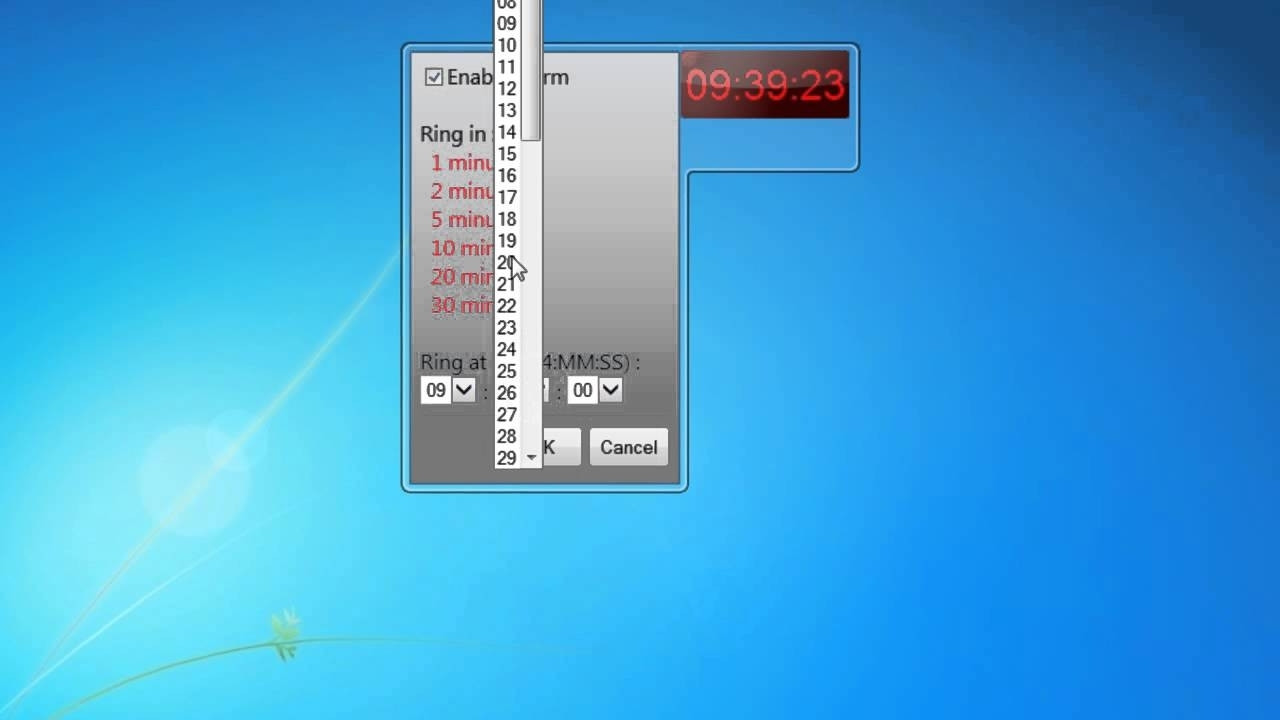 Alarmclock Windows 7 Gadget