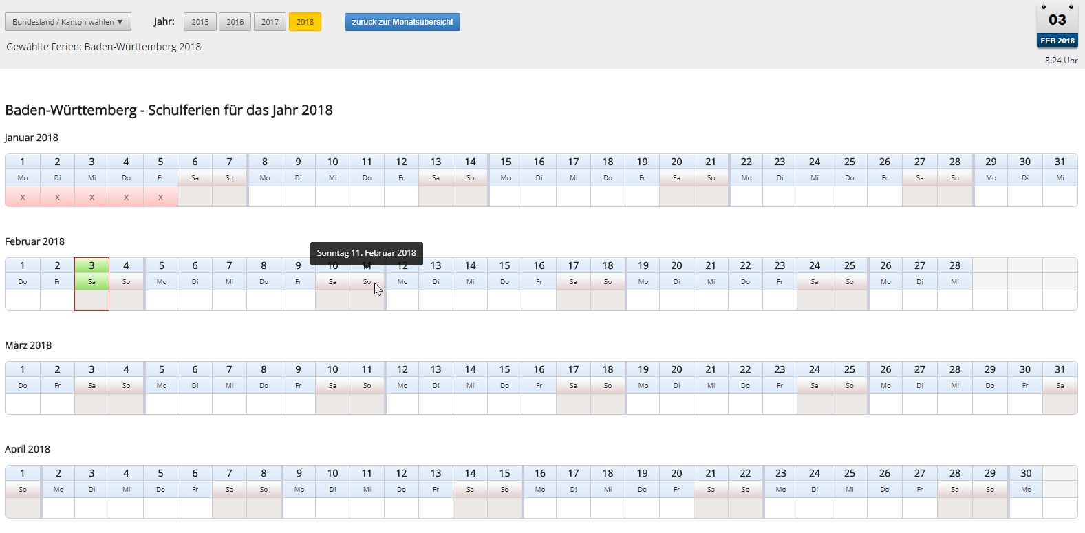 Any Jquery Plugin To Create A Horizontal Monthly Calendar