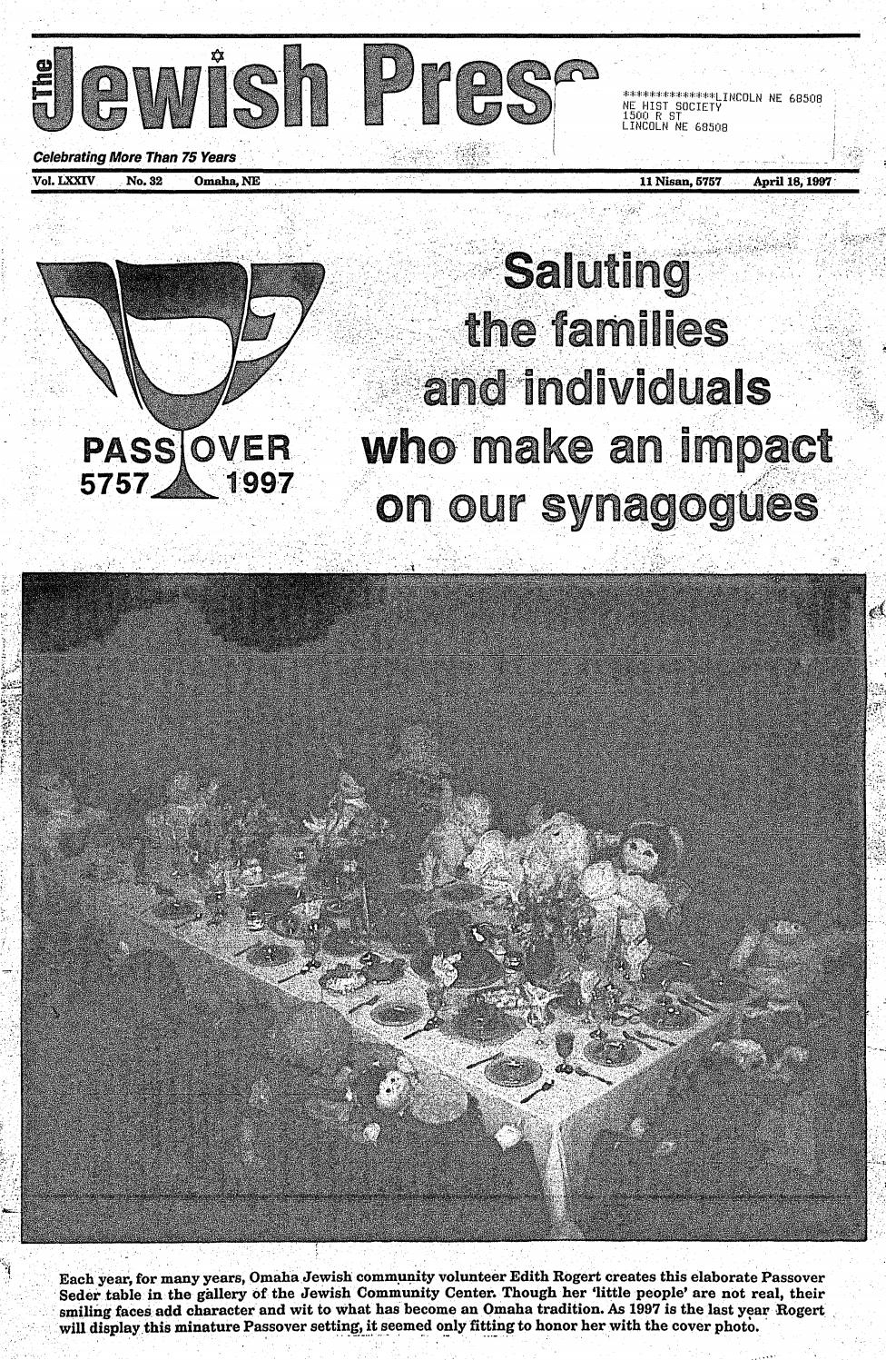 April 18, 1997: Passover Editionjewish Press - Issuu