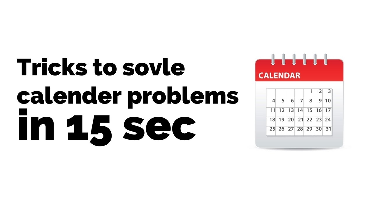 Aptitude Series Calendar Problem Solving In Less Than 15 Second