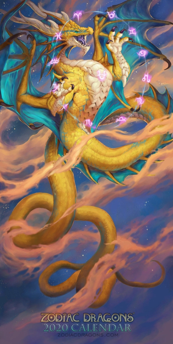 Art Of 2020 Zodiac Dragons Calendar