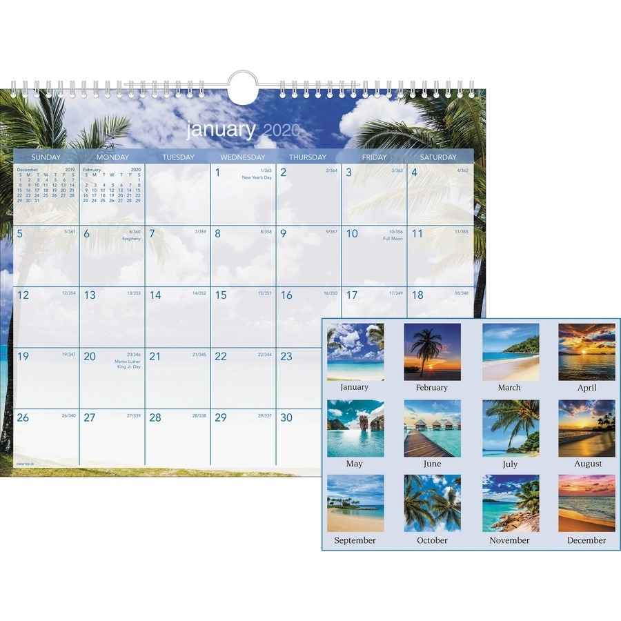 "At-A-Glance Tropical Escape Monthly Wall Calendar - Yes - Monthly - 1 Year  - January 2020 Till December 2020 - 1 Month Single Page Layout - 15"" X 12"""