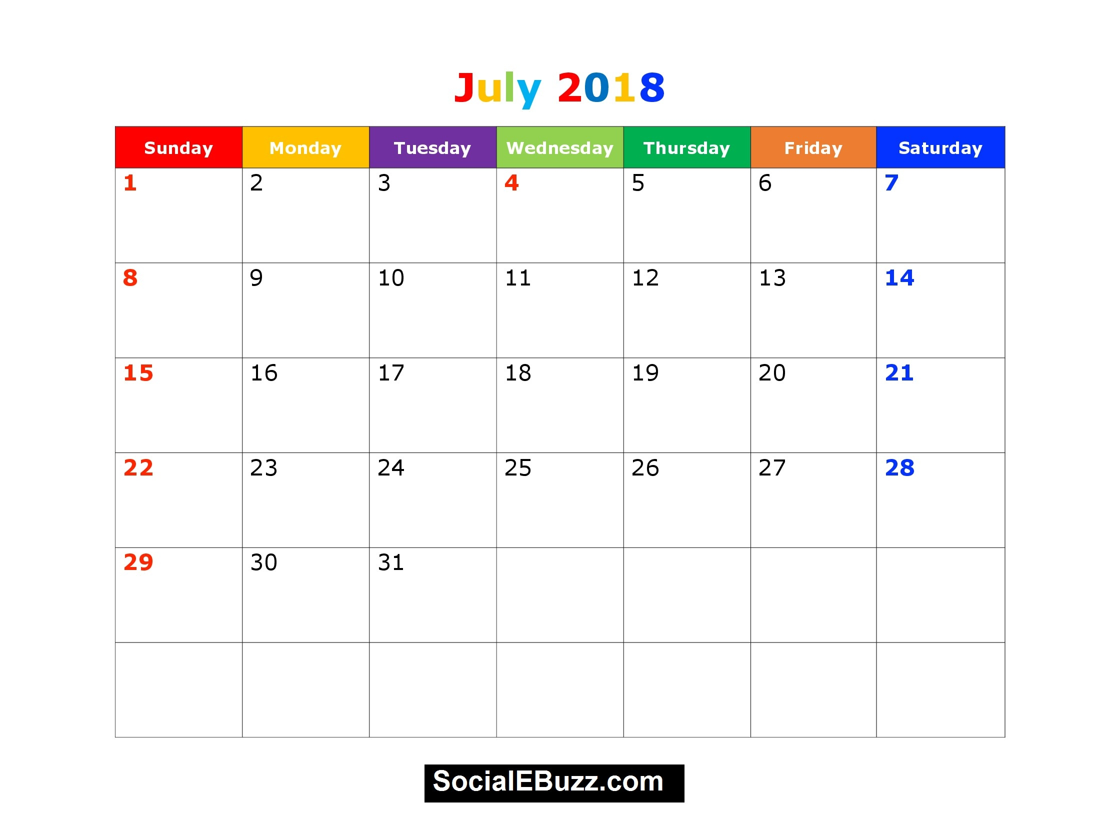 August 2018 Printable Calendar Imom | Calendar Template