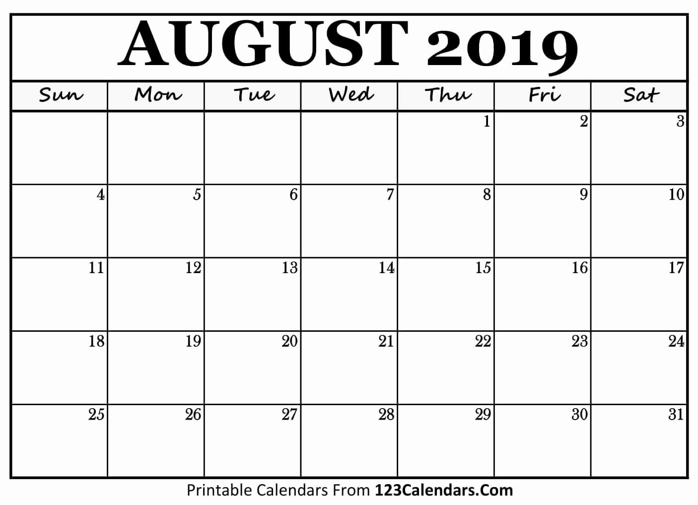 August 2019 Calendar Spanish | Calendar Template
