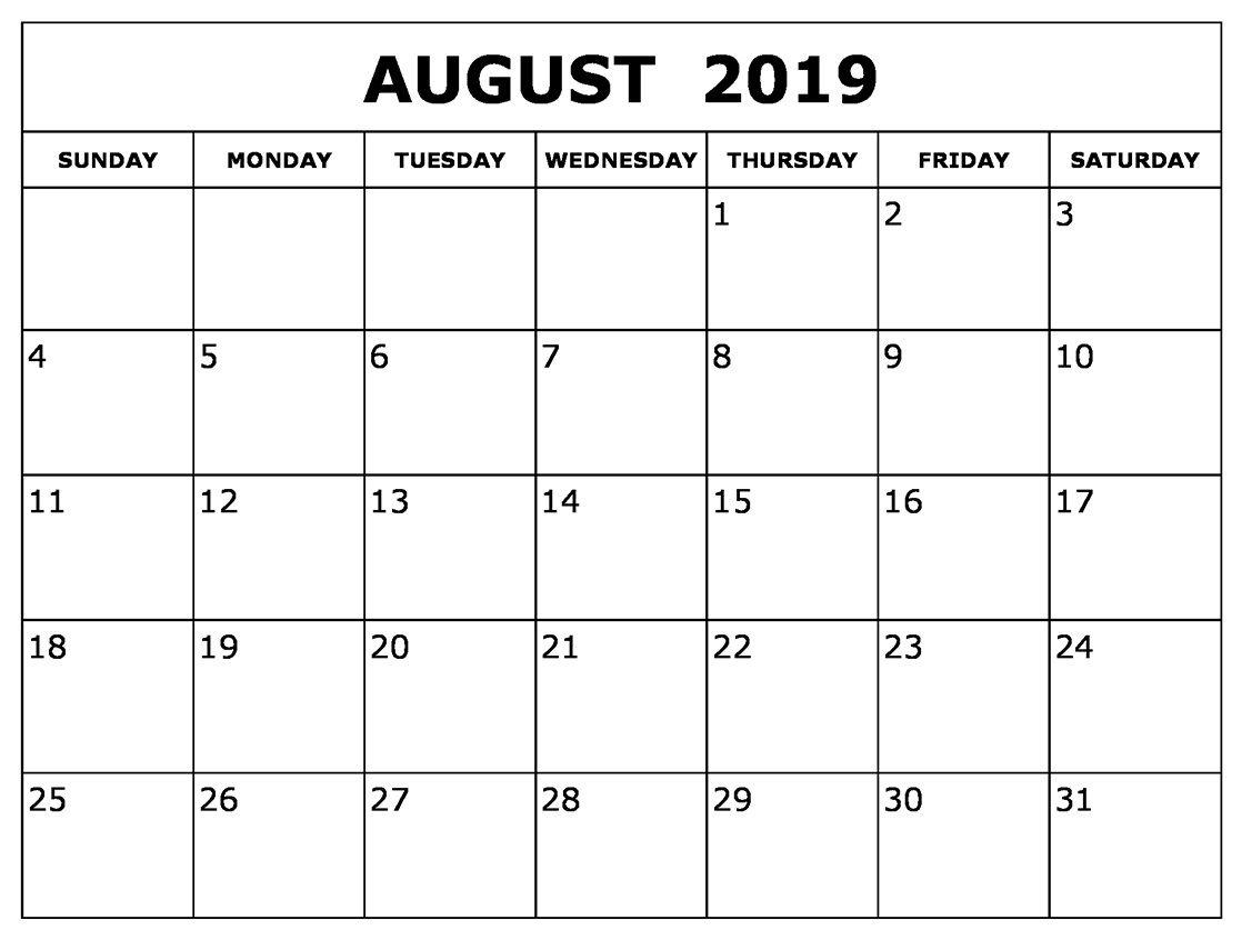 August Calendar 2019 Waterproof In 2019 | Printable Calendar