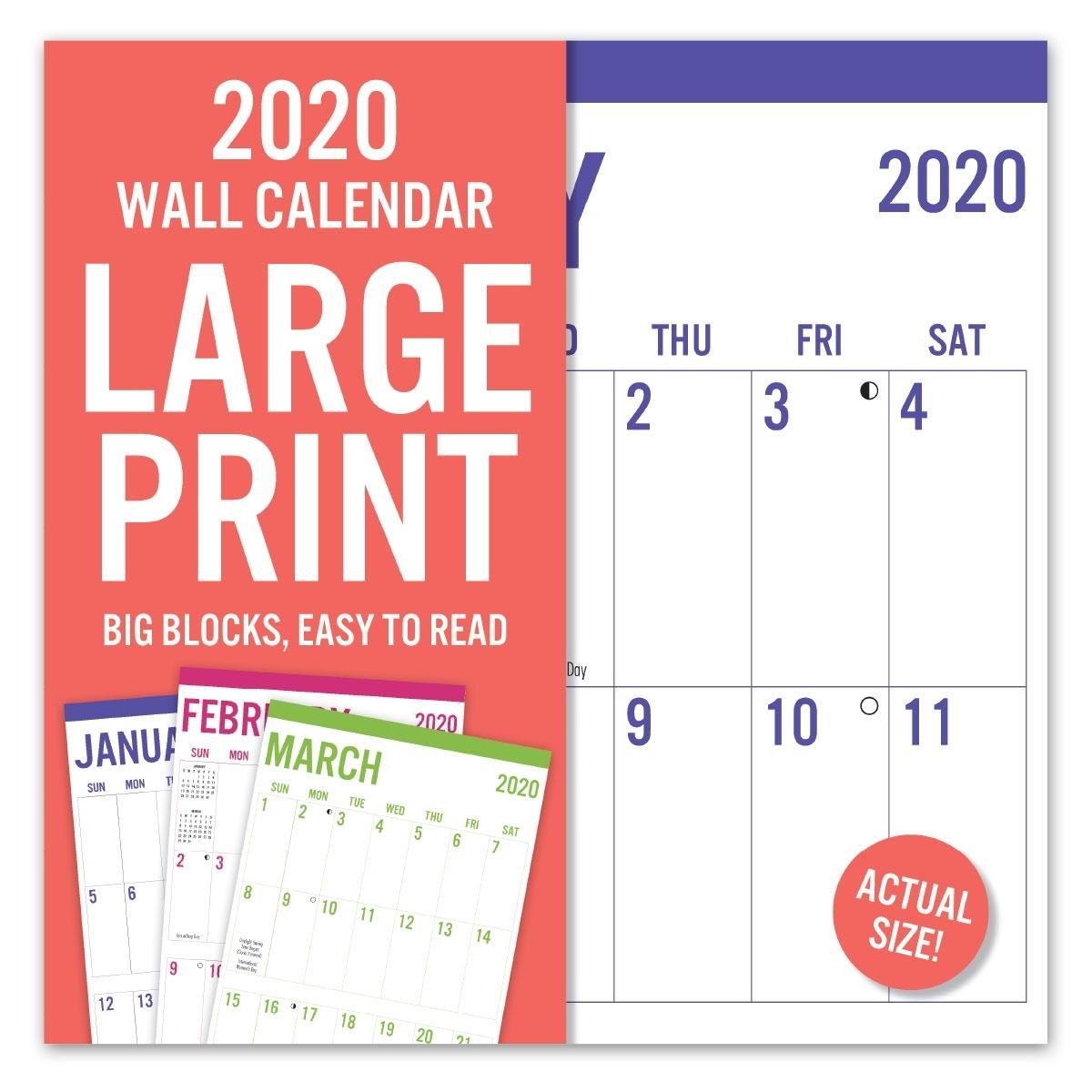 Avalon 12″ X 12″ 2020 Wall Calendar – Large Print – Leap
