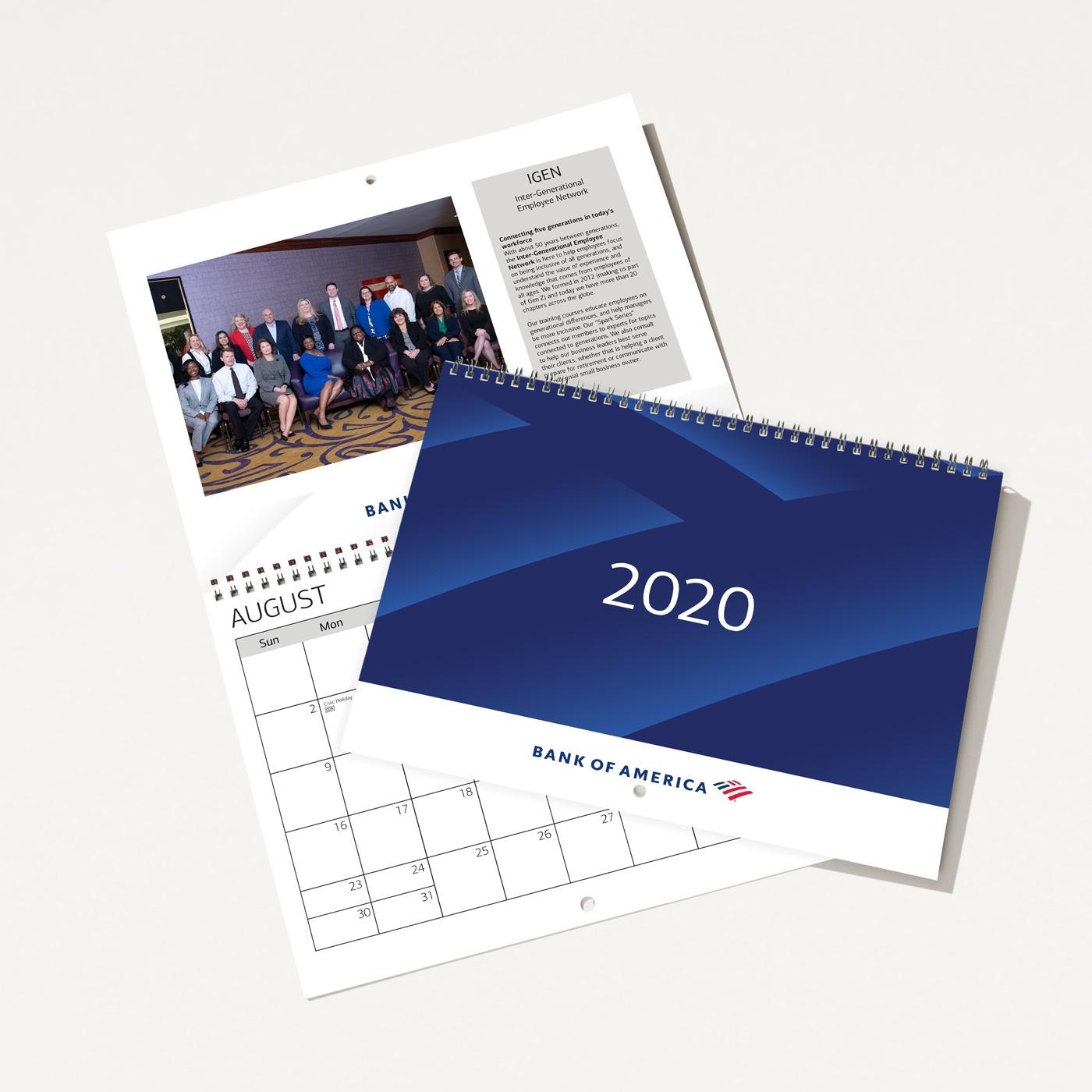 Bank Of America 2020 Wall Calendar | Bank Of America Store