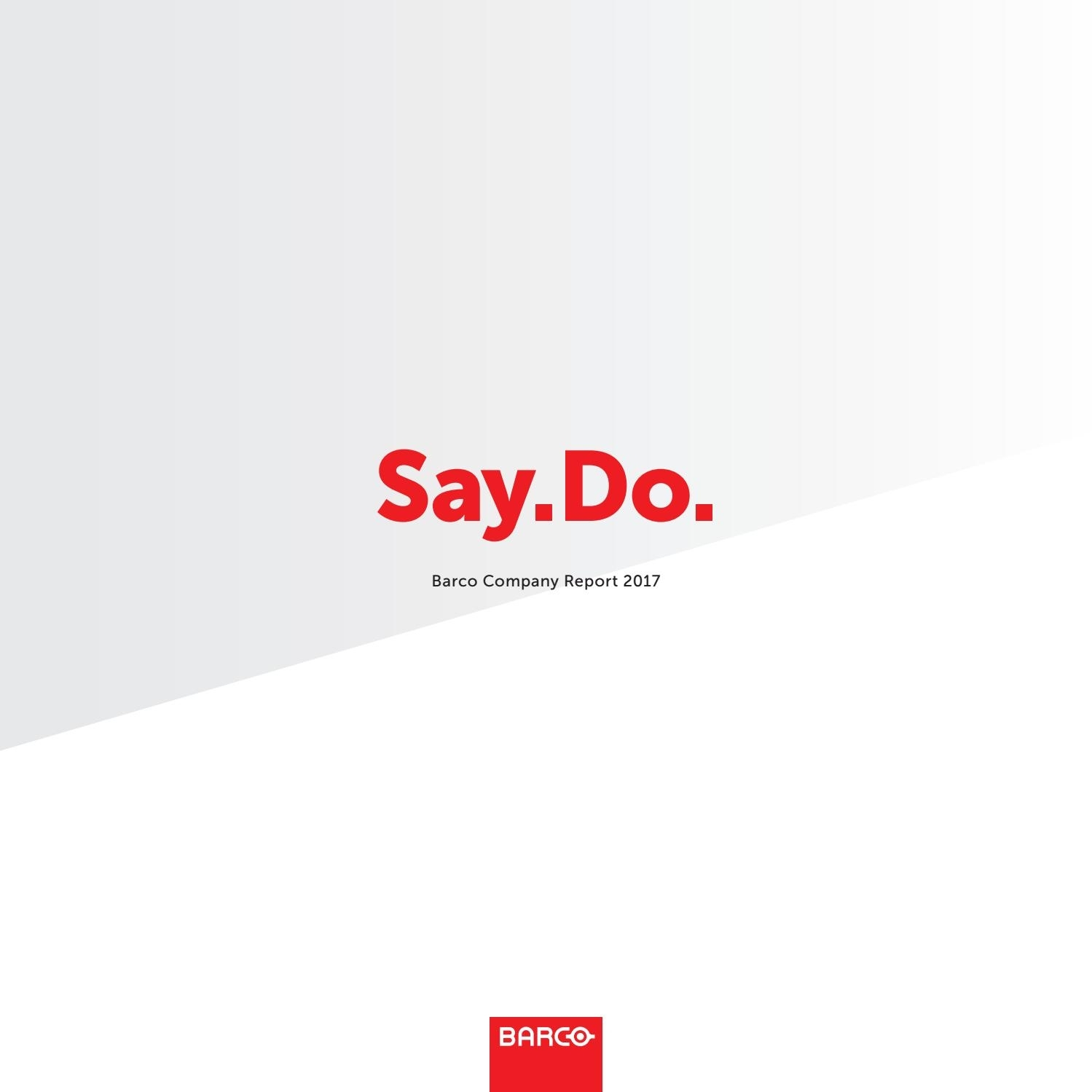 Barco Annual Report 2017Barco - Issuu