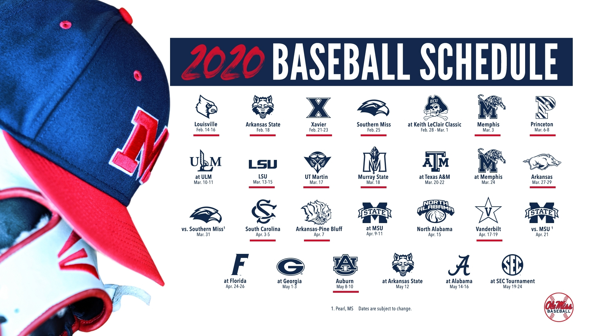 Baseball Announces 2020 Schedule - Ole Miss Athletics
