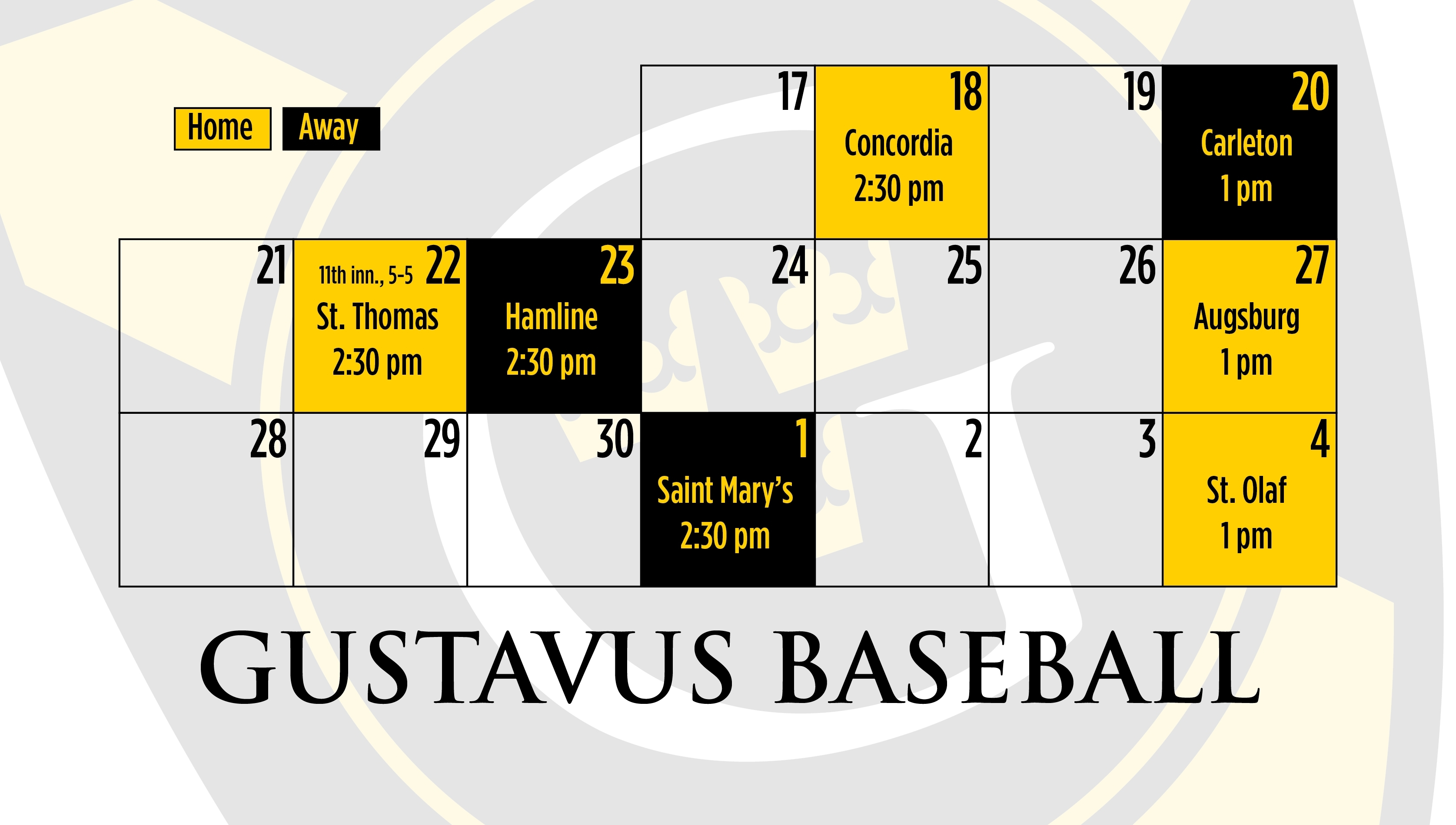 Baseball Schedule Update: Resumption Of St. Thomas Game