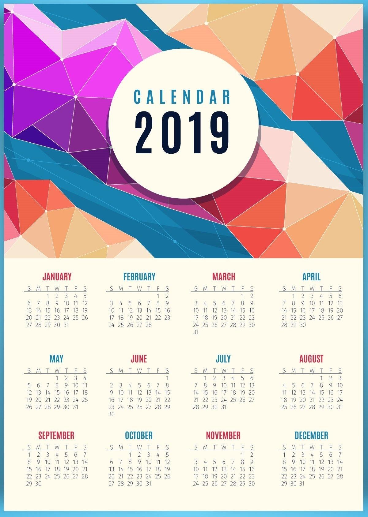 Beautiful 2019 Calendar Printable | Calendar Design, June