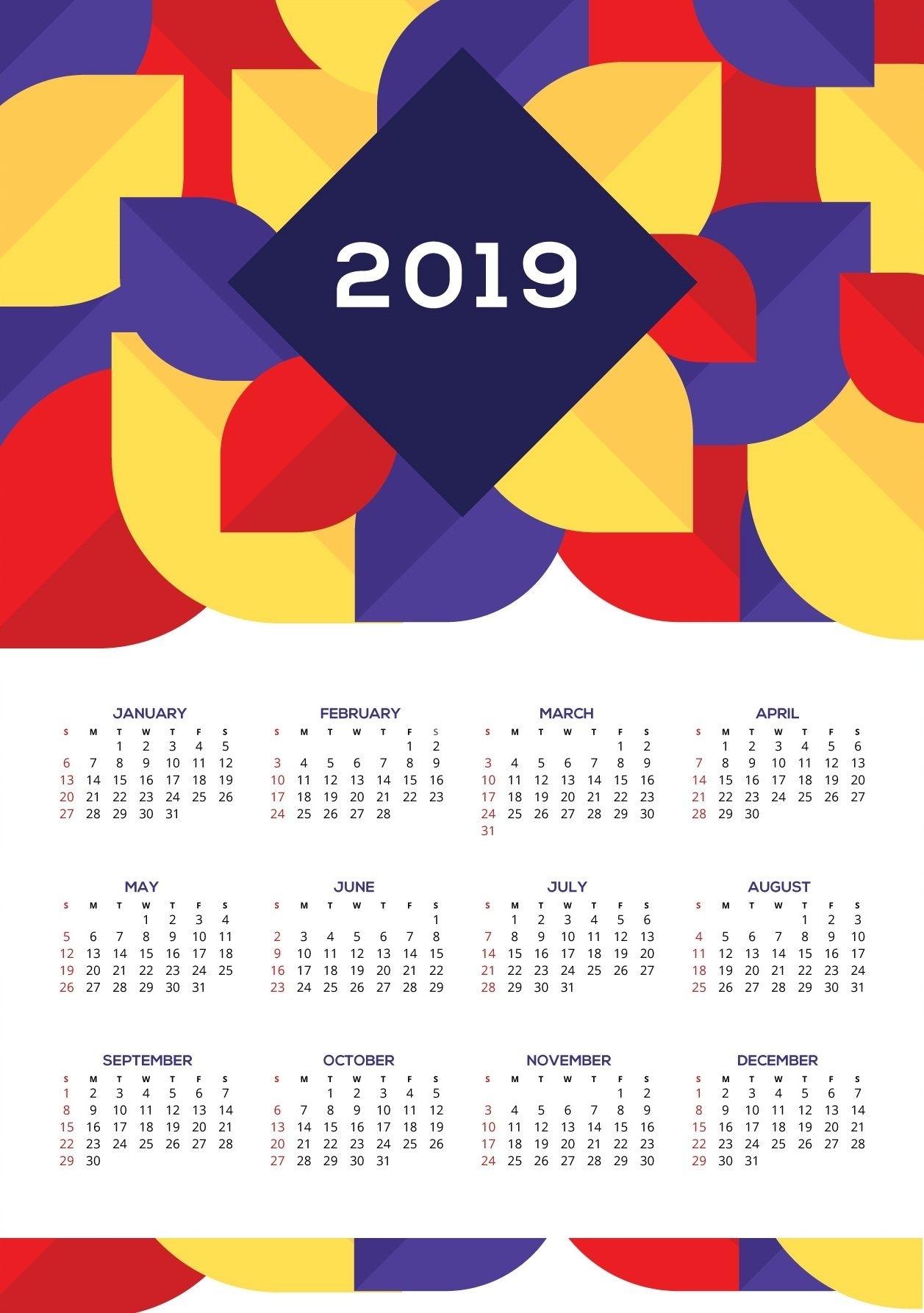 Beautiful Wall Calendar 2019 #2019Calendar