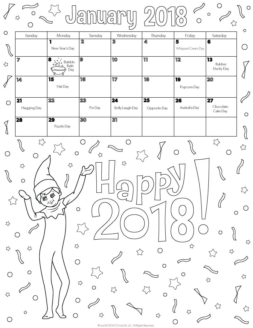 Best Coloring: Printable Calendar Coloring Pages For Kids