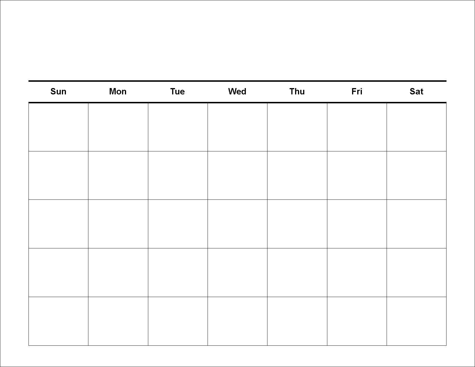 Blank 4 Week Calendar Printable - Calendar Inspiration Design