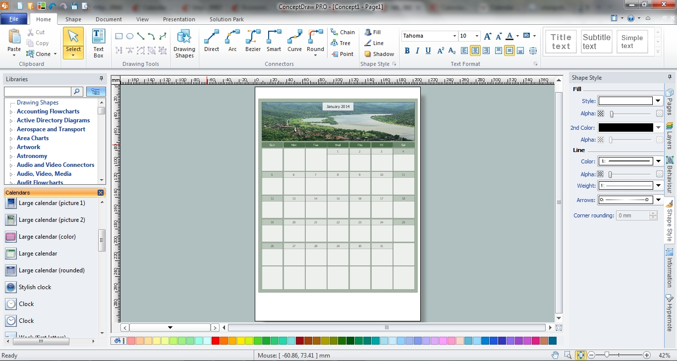 Blank Calendar | Blank Calendar Template | Business Calendar