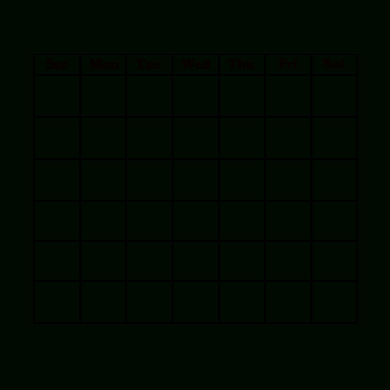 Blank Calendar Page With Day Headings | Blank Calendar