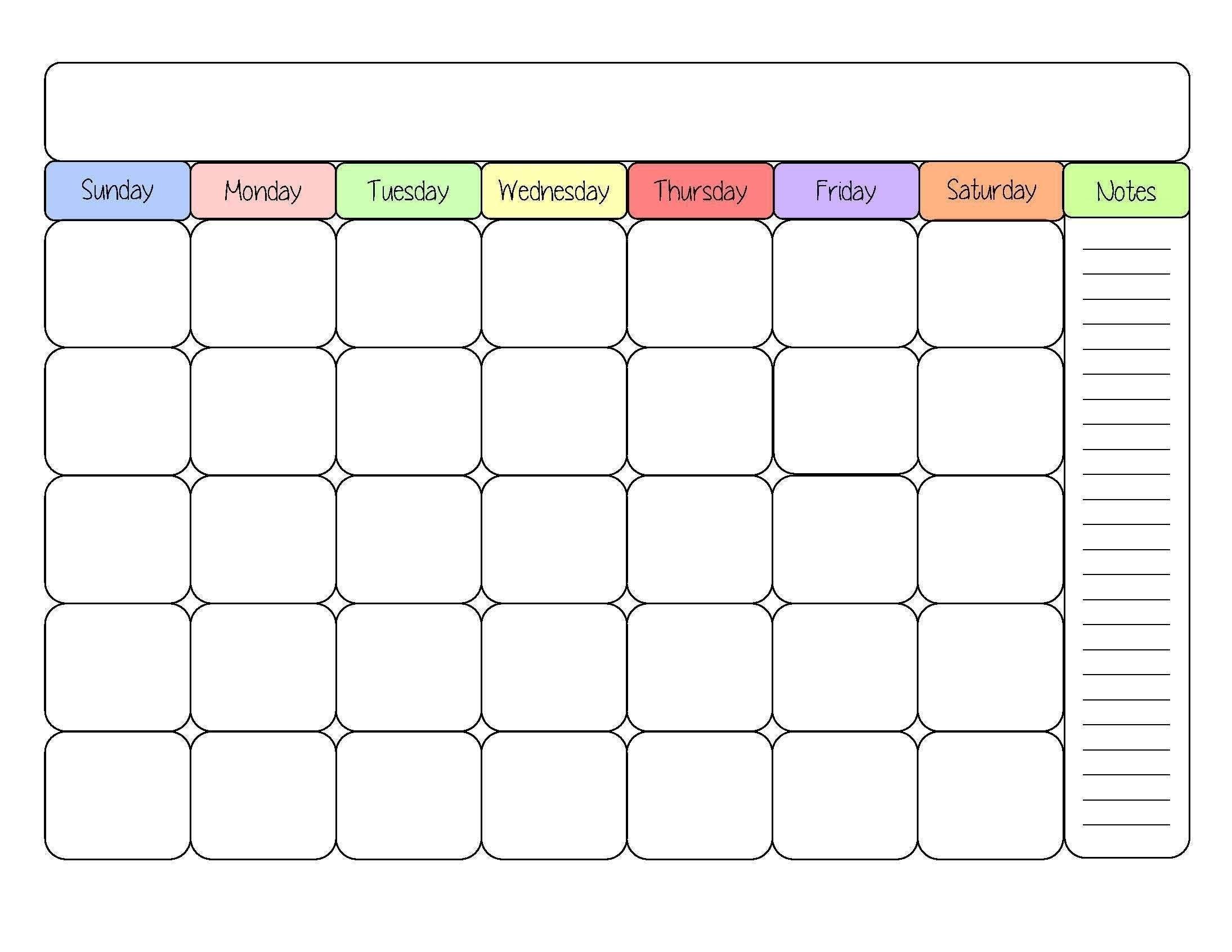 Blank Calendars In Blank Calendar Templates - Free Calendar