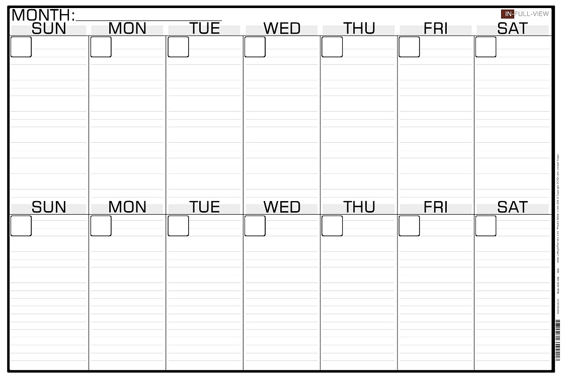 Blank Two Week Calendar Template - Calendar Inspiration Design