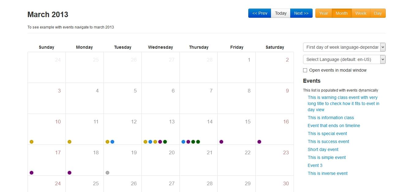 Bootstrap Calendar | Drupal