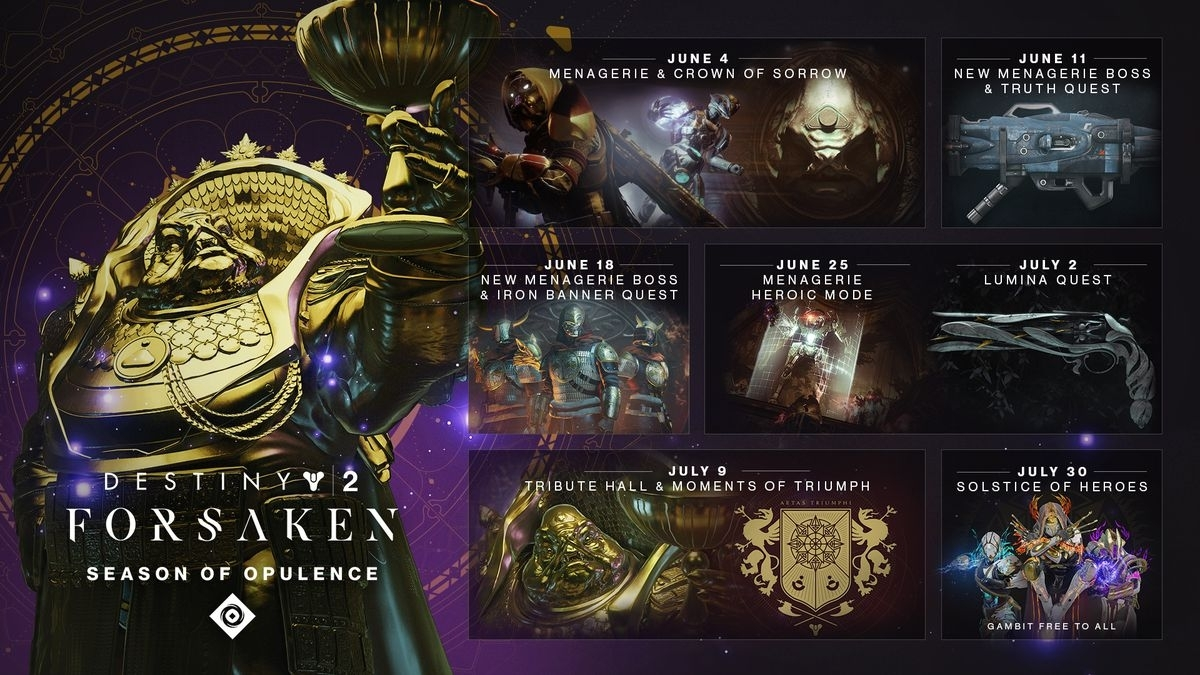 Bungie Rolls Out Destiny 2: Season Of Opulence Content