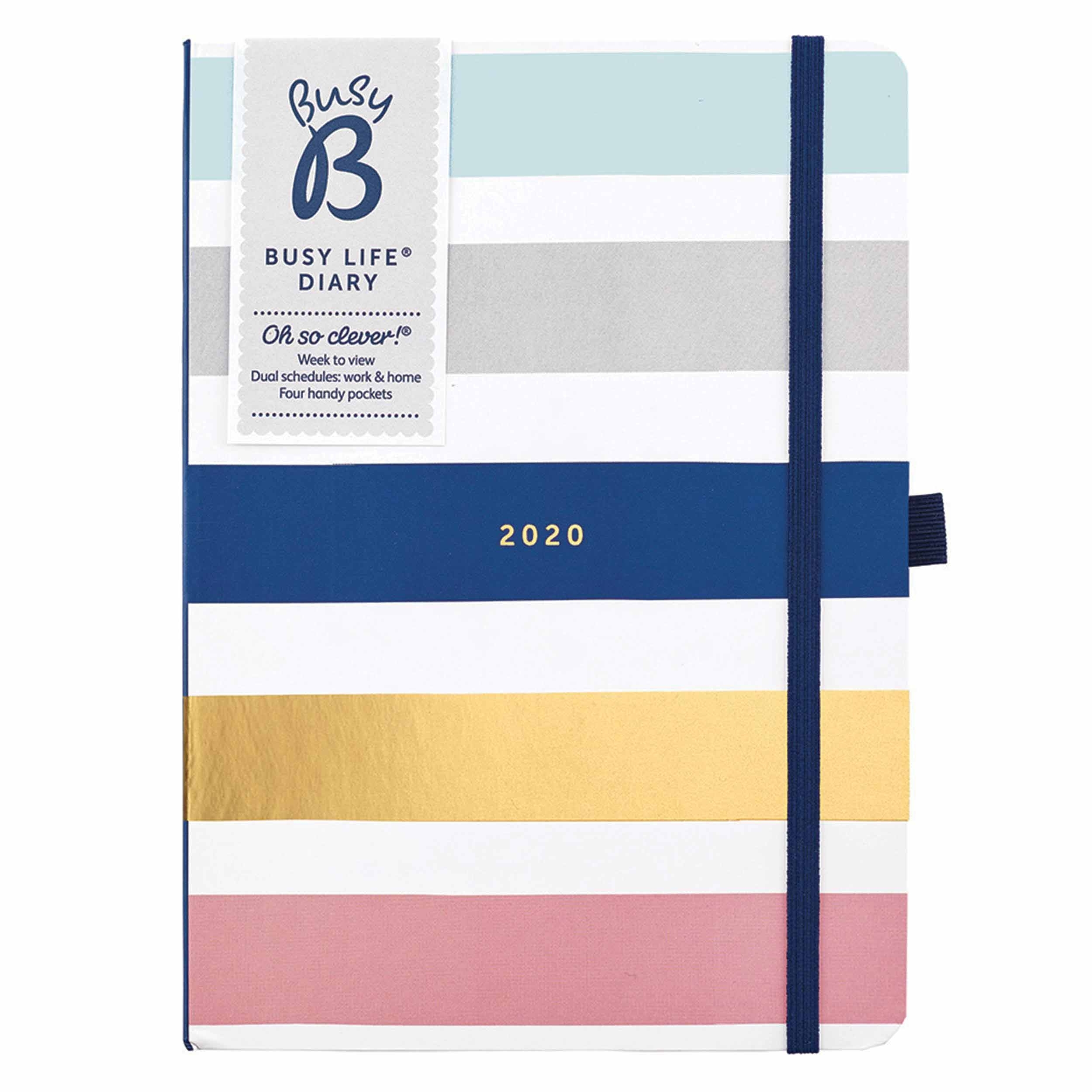 Busy B, Busy Life Stripes A5 Diary 2020