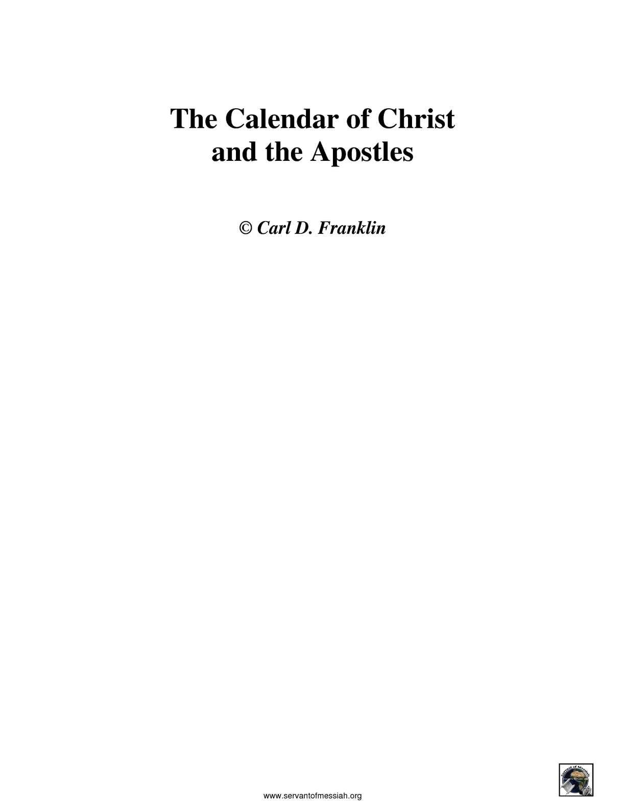 Calaméo - Apostles Biblical Calendar