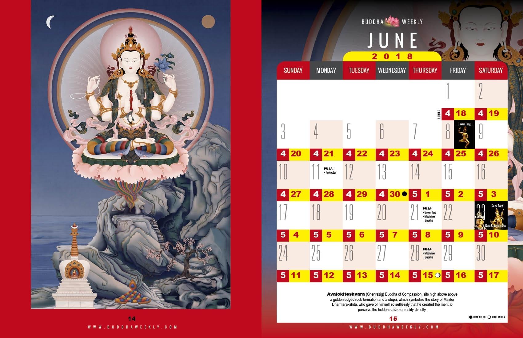 Calendar-2018 - Buddha Weekly: Buddhist Practices