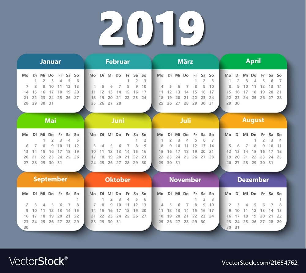 Calendar 2018 Year German Week Starting On Monday
