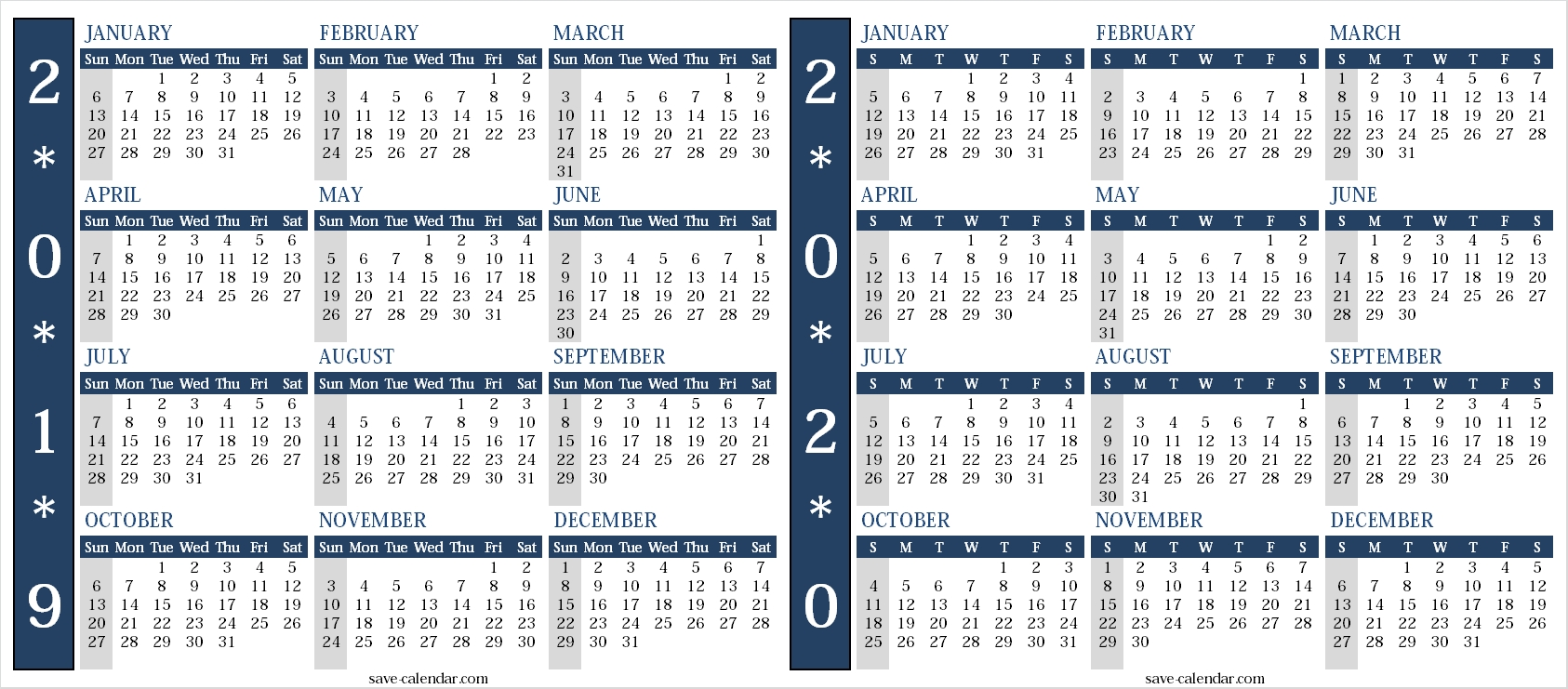 Calendar 2019 2020 Uk | Calendar Design, Templates Printable