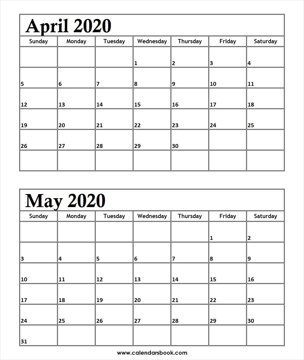 Calendar 2020 April May – Get Your Calendar Printable