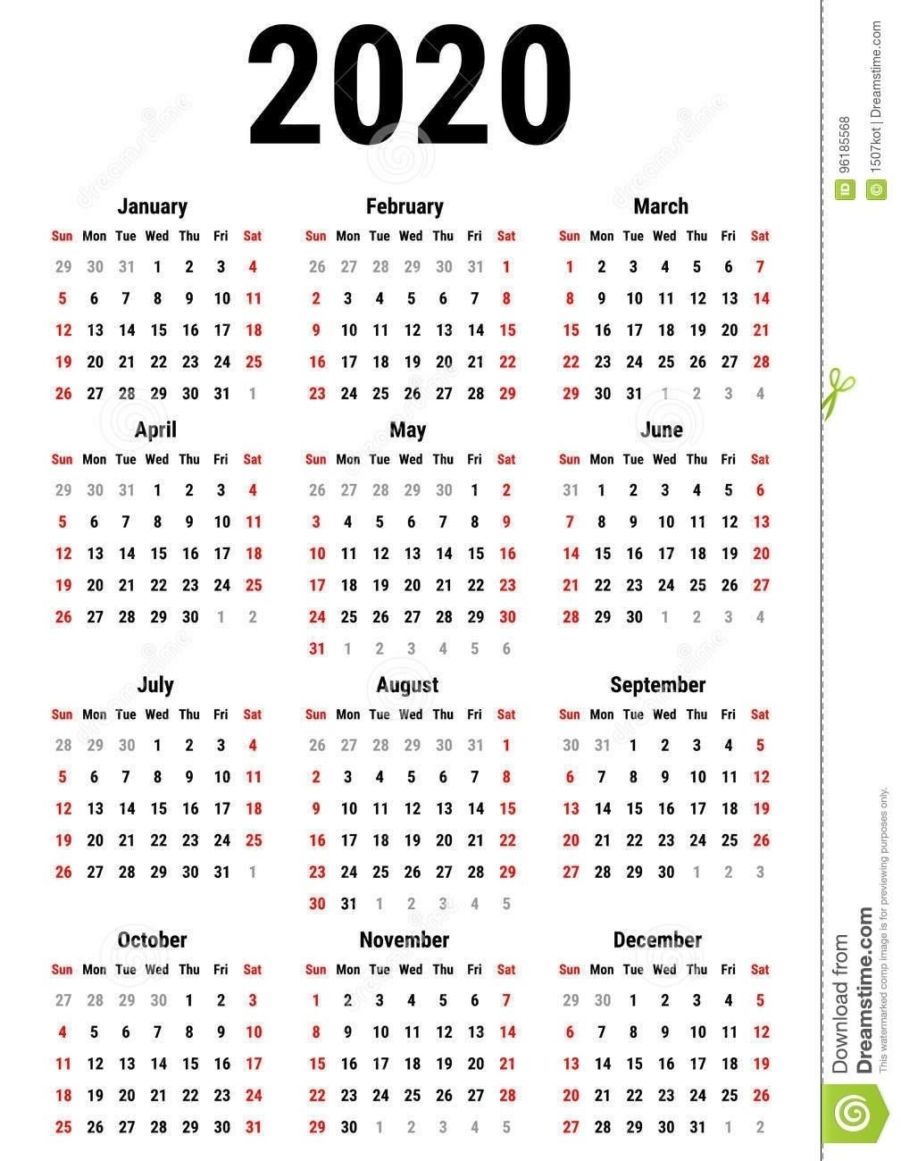 Calendar 2020 Zile Libere | Calendar Template Printable