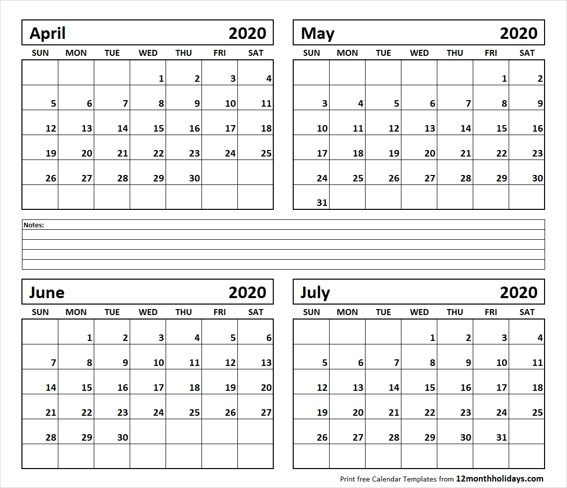 Calendar For June July 2020 | Gallery Of Calendar Printable