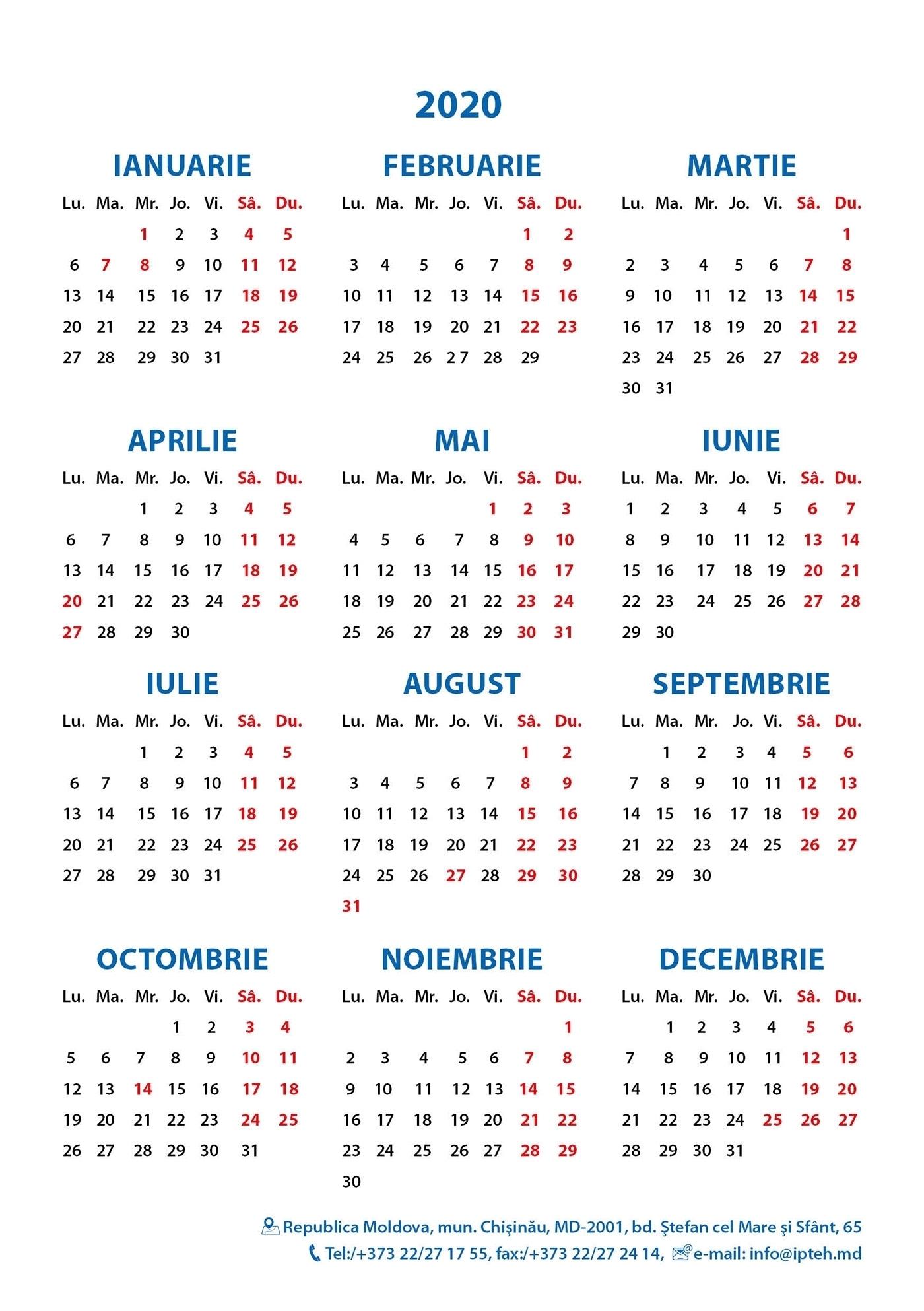 Calendar Iunie 2020 6 Iunie 2020 Calendar – Get Your