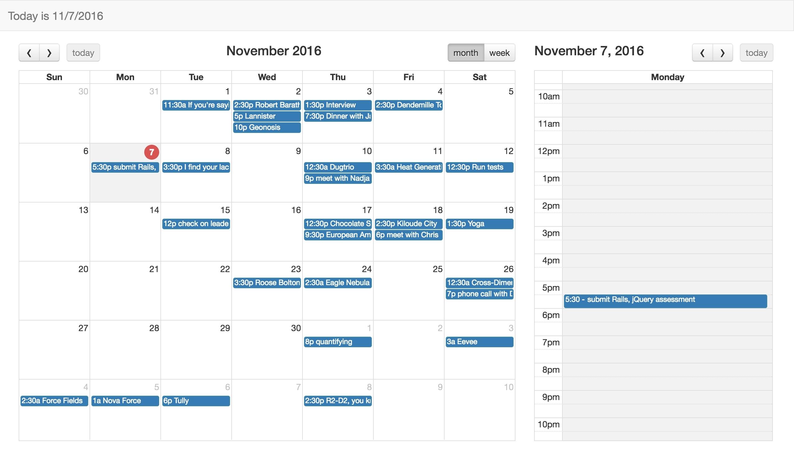 Calendar Week View Html | Igotlockedout