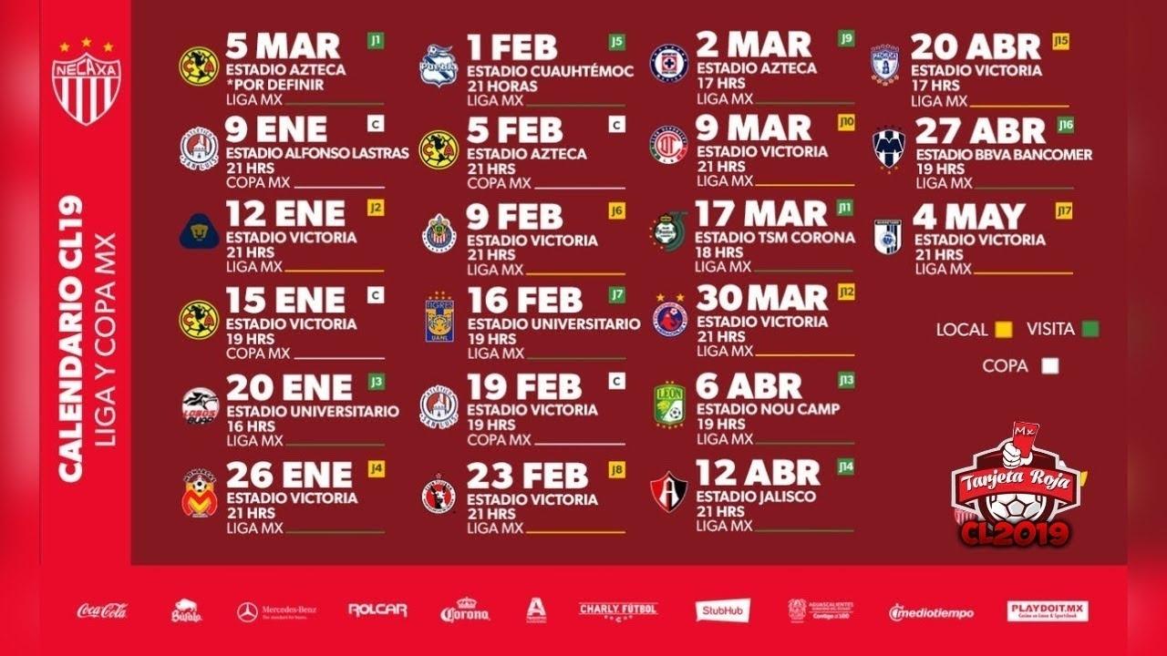Calendario Liga Mx 2019 2020 | Calendar Template Printable