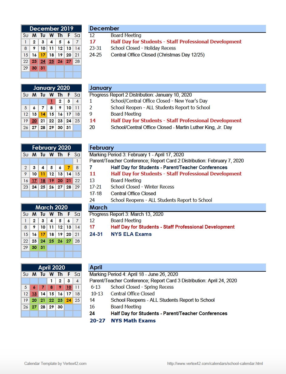 Calendars – Parents – Charter School Of Educational Excellence