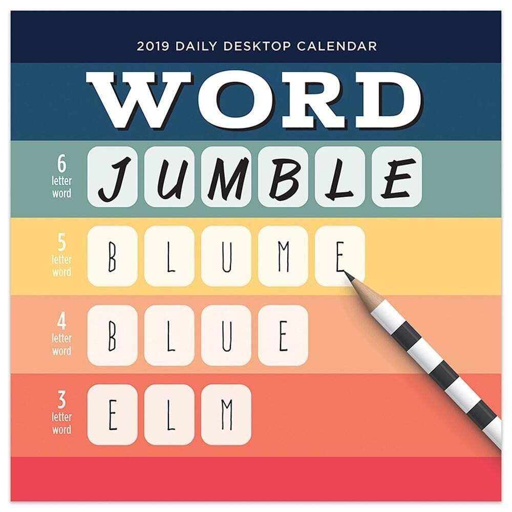 Calendarsdotcom: 2019 Word Jumble Daily Desk Calendar Calendar,tf  Publishing | Rakuten