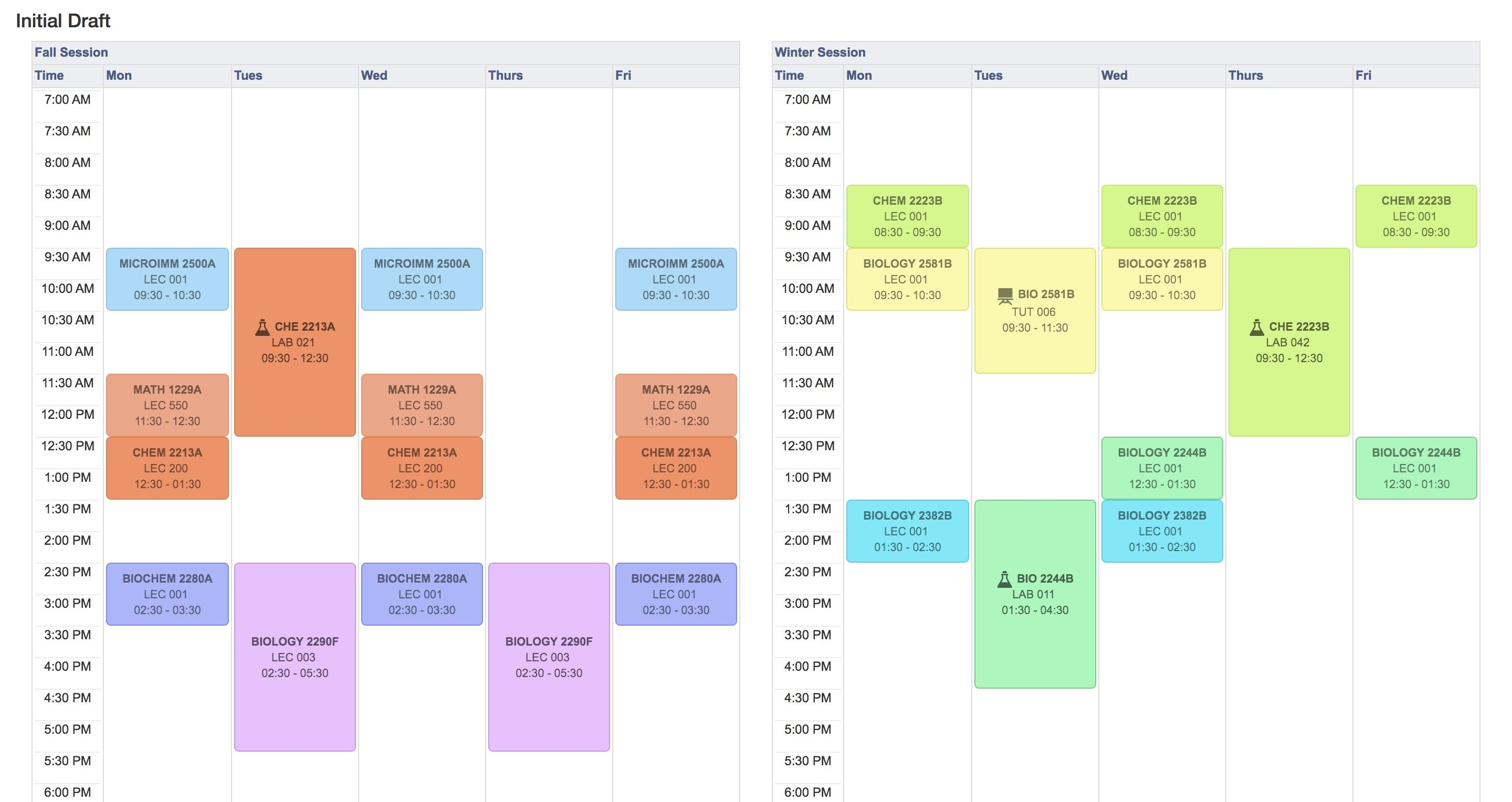Can Anyone From Uwo Med Sci Give Me Advice On This Schedule